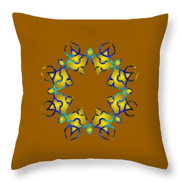 Psychedelic Mandala 011 A Throw Pillow