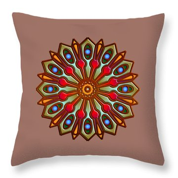 Psychedelic Mandala 012 A Throw Pillow