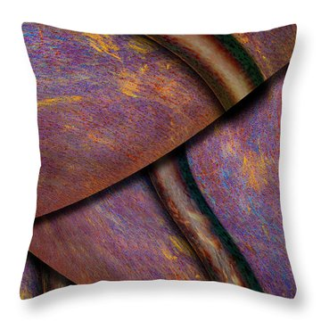 Psychedelic Pi Throw Pillow by Paul Wear