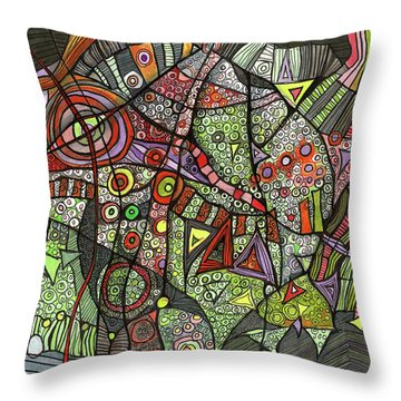 Psychedelic Sea Creature Throw Pillow