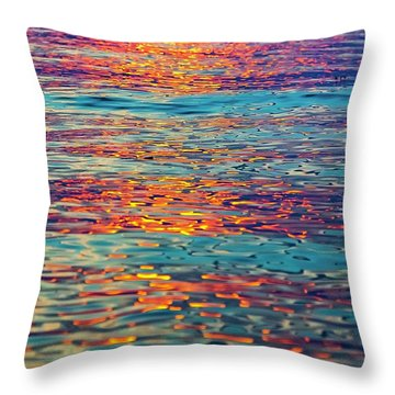Psychedelic Sunset Throw Pillow