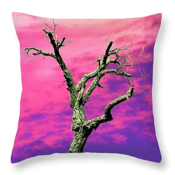 Psychedelic Tree Throw Pillow by Richard Patmore