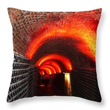 Psychedelic Wine Cellar Throw Pillow