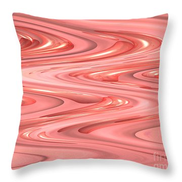 Psychedelic Zigzag Throw Pillow