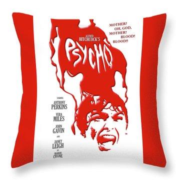 Psycho Throw Pillow by Ron Regalado
