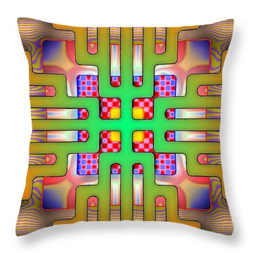 Psytechno Throw Pillow