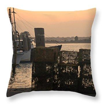 Pt Judith Dock Throw Pillow