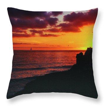 Throw Pillow featuring the photograph Pt Mugu Sunset by Samuel M Purvis III