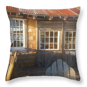 Throw Pillow featuring the photograph Pt. Reyes Boathouse by Dianne Levy