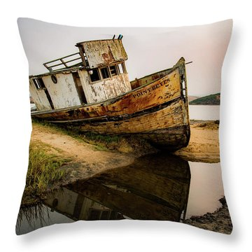 Pt. Reyes Shipwreck 1 Throw Pillow