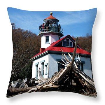 Pt Robinson Lighthouse, Maury Island, Washington Throw Pillow