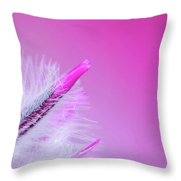 Ptilotus Macro Throw Pillow