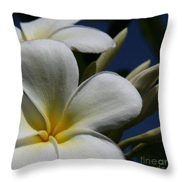 Pua Lena Pua Lei Aloha Tropical Plumeria Maui Hawaii Throw Pillow by Sharon Mau