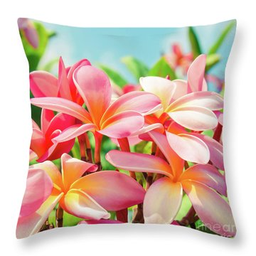 Pua Melia Ke Aloha Maui Throw Pillow