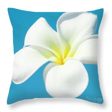 Throw Pillow featuring the photograph Pua Melia Pakahikahi by Sharon Mau