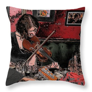 Pub Scene Two Throw Pillow
