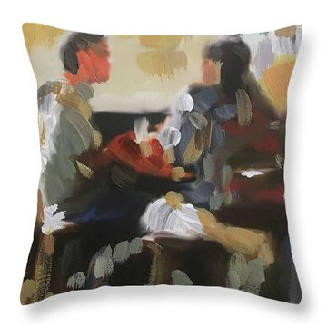 Pub Talk Throw Pillow
