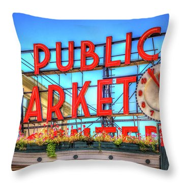Public Market At Noon Throw Pillow by Spencer McDonald