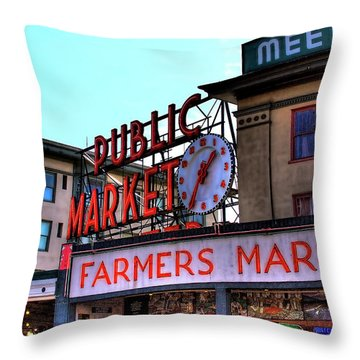Public Market II Throw Pillow