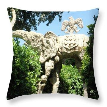 Pubol Spain Gala Castle Garden Throw Pillow