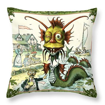 Card Puck Serpent Throw Pillow