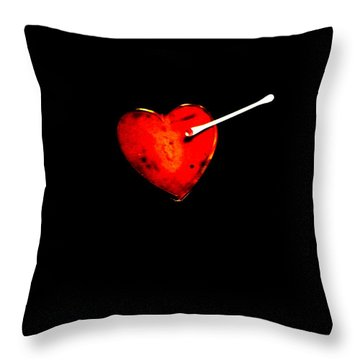 Pucker Up Valentine Throw Pillow by Lin Haring