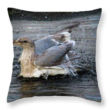 Puddle Bath Throw Pillow