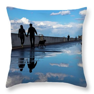 Throw Pillow featuring the photograph Puddle-licious by Mary Amerman