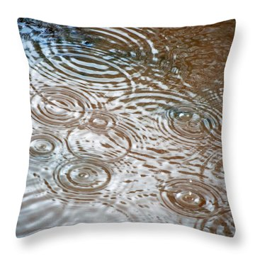 Puddle Patterns Throw Pillow by Gwyn Newcombe