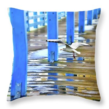 Throw Pillow featuring the photograph Puddles by Diana Angstadt
