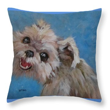 Pudgy Smiles Throw Pillow