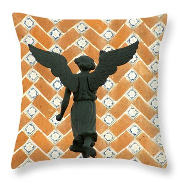 Throw Pillow featuring the photograph Puebla Angel Mexico by John  Mitchell