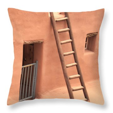 Pueblo Throw Pillow by John Bushnell