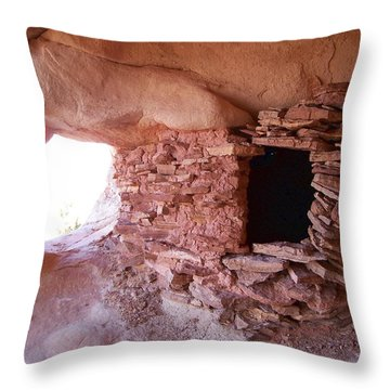 Puebloan Granary Throw Pillow
