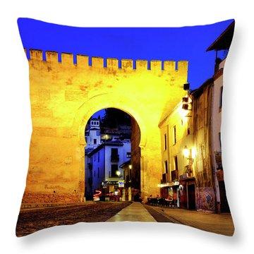 Throw Pillow featuring the photograph Puerta De Elvira by Fabrizio Troiani
