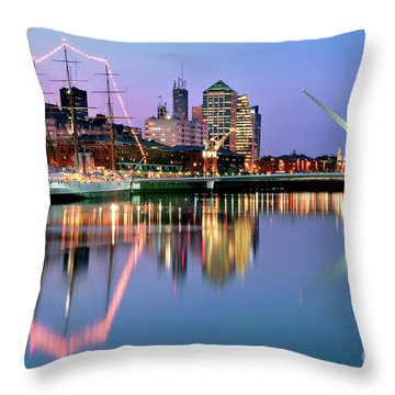Throw Pillow featuring the photograph Puerto Madero I by Bernardo Galmarini