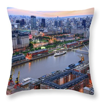 Puerto Madero Pier 3 Throw Pillow by Bernardo Galmarini