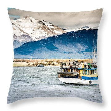 Puerto Natales Patagonia Chile Throw Pillow