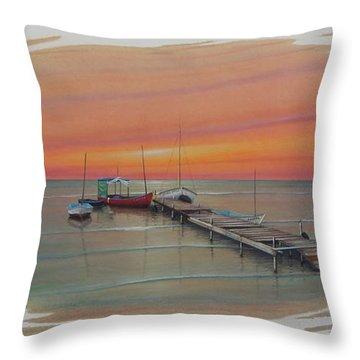 Puerto Progreso Vl  Throw Pillow