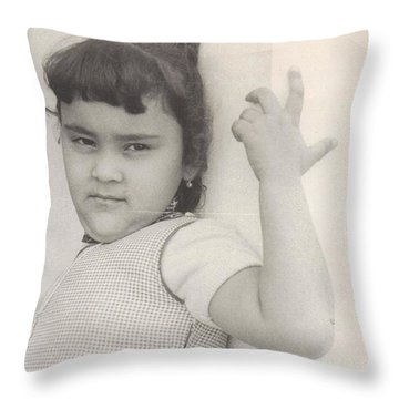 Puerto Rican-american Girl 1964 Throw Pillow