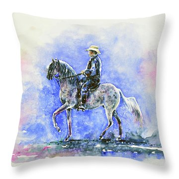 Puerto Rican Paso Fino Rider Throw Pillow