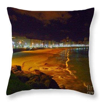 Puerto Rico Beach Throw Pillow by Andrew Middleton