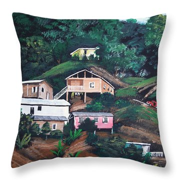 Puerto Rico Mountain View Throw Pillow by Luis F Rodriguez
