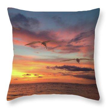 Puerto Vallarta Pelicans Throw Pillow