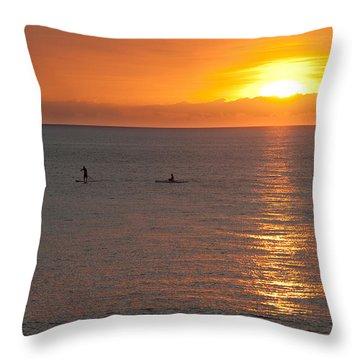 Puerto Vallarta Sunset Throw Pillow by Sebastian Musial