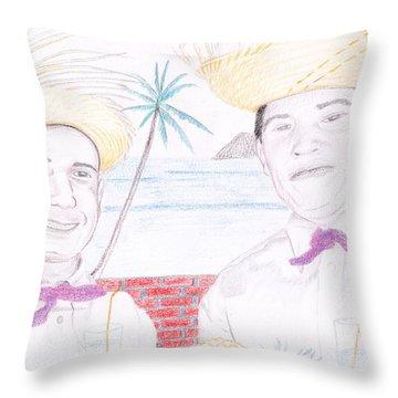 Puertorican Friends Throw Pillow