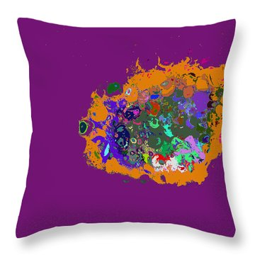 Puff Of Color Throw Pillow