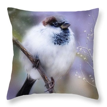 Puffball  Throw Pillow by Elaine Manley
