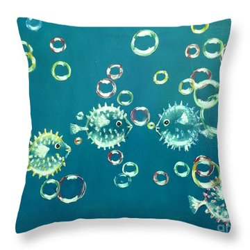 Puffed Up With Pride Throw Pillow