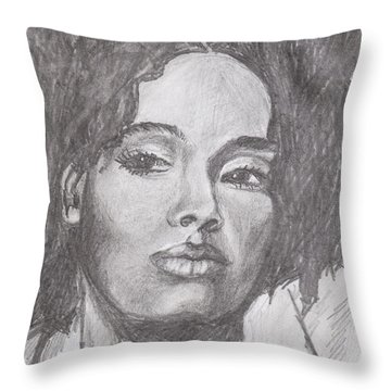 Puffs Throw Pillow by Jean Haynes
